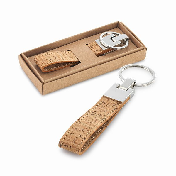 Cork key ring