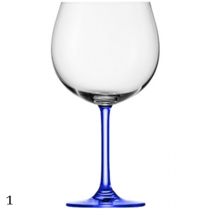 Coloured Stem Gin Glasses