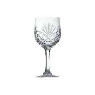 21cl heavy cut crystal goblet
