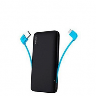 Power Bank with Built-in iPhone 5 USB Cable