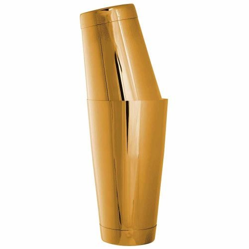 Professional Metal Cocktail Shaker in Gold