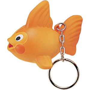 Stress Goldfish Keyring