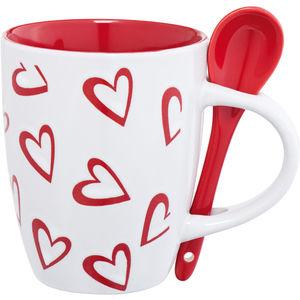 valentine mug with spoon