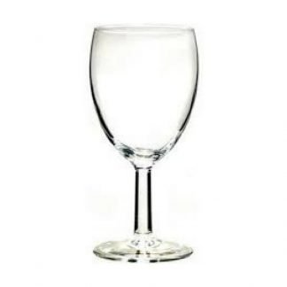 Low cost white wine glass