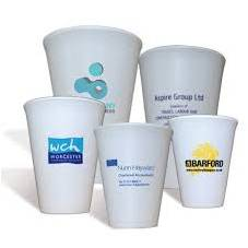 Printed polystyrene cups