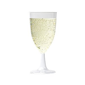 Tough and Reusable Crystal Polystyrene Plastic Wine Glass