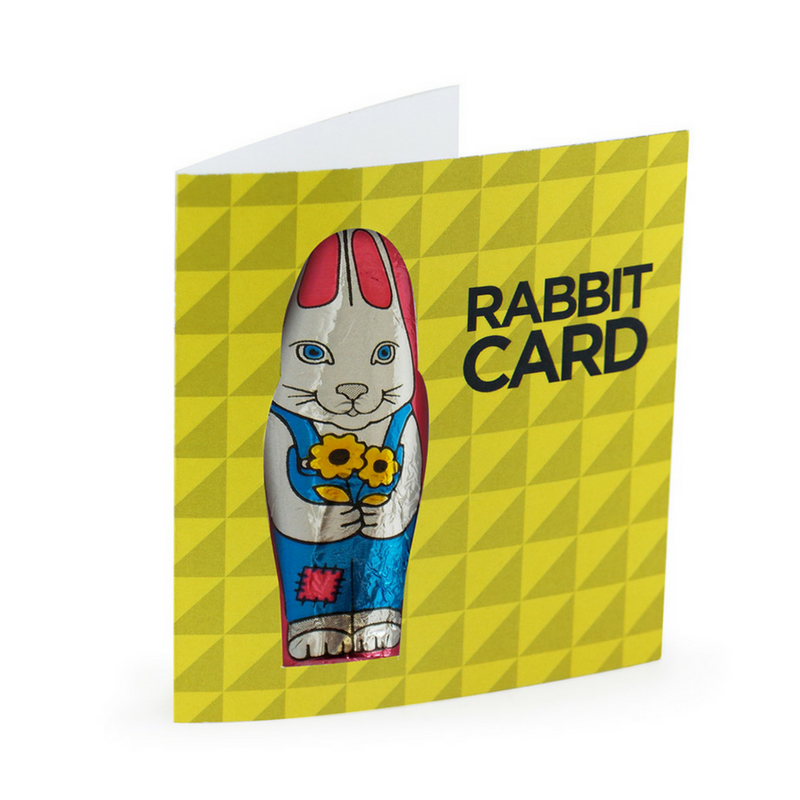 Easter Card with Chocolate Rabbit