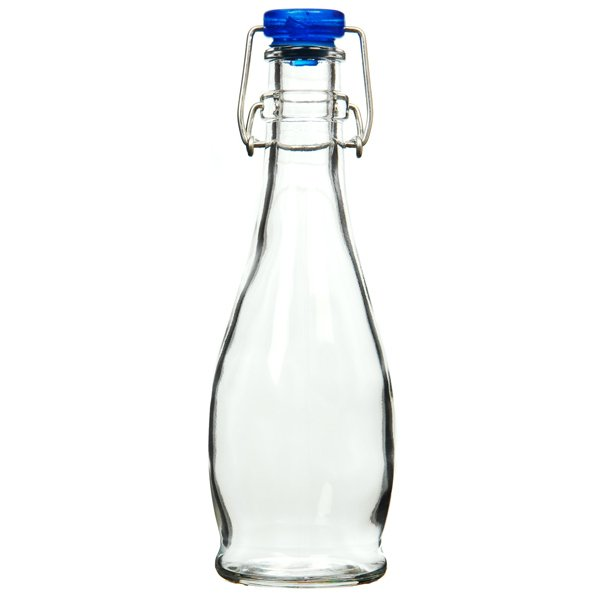 Small Curved Flip Top Bottle