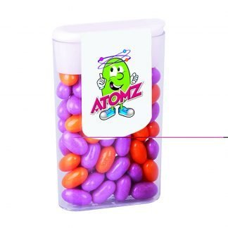 Medium fruit and mint sweets with flip top lid