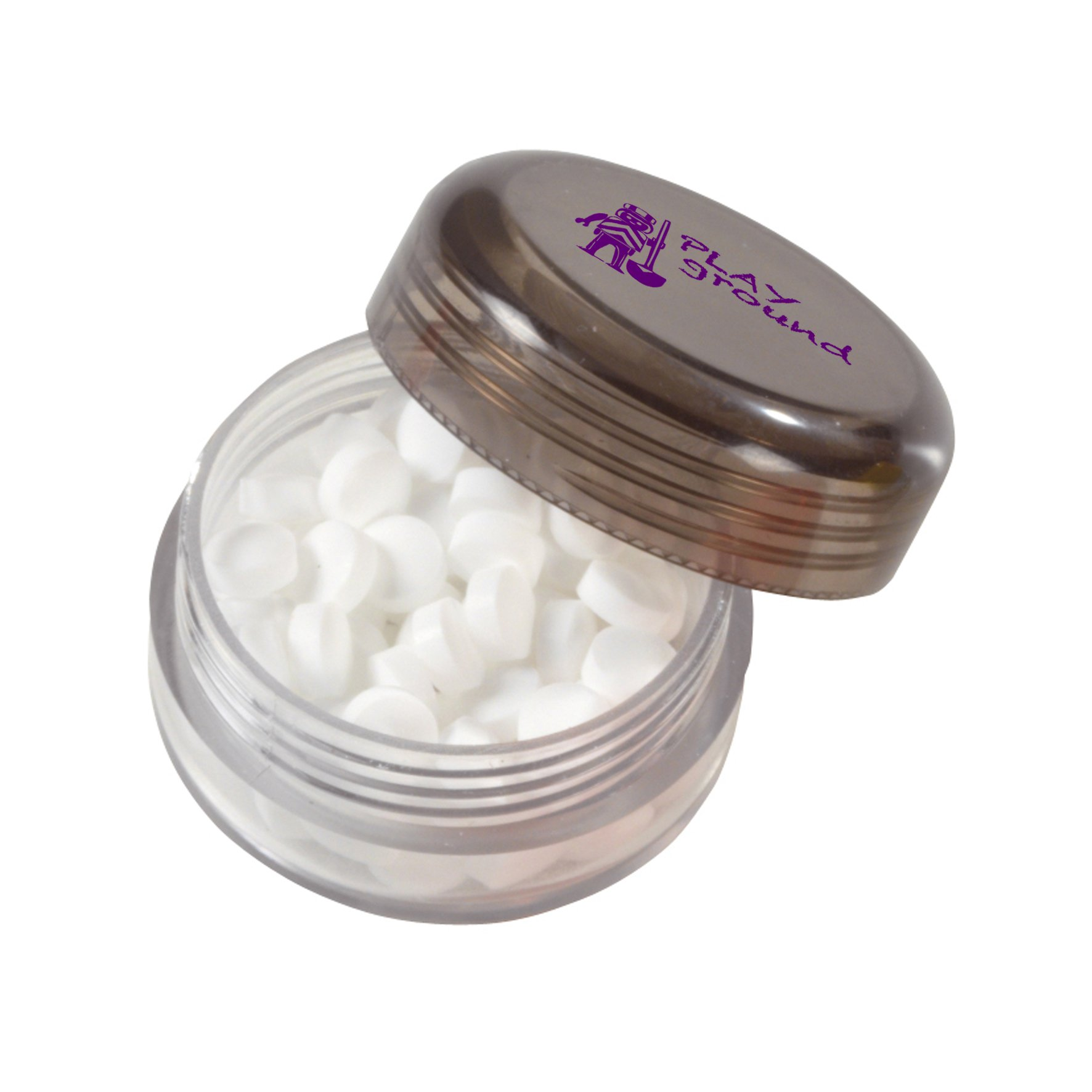 Mints in plastic container