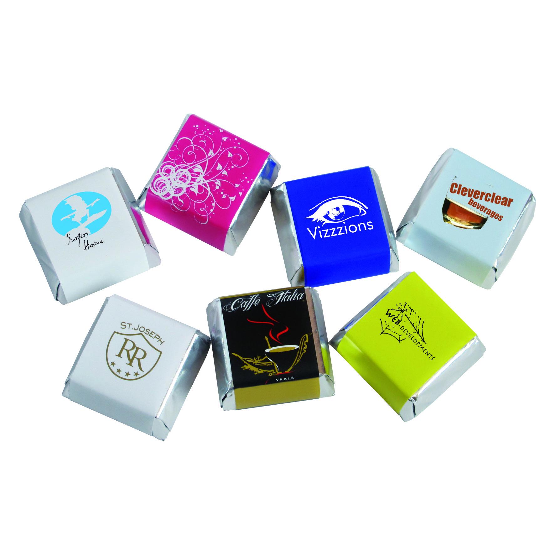 Mini square chocolates