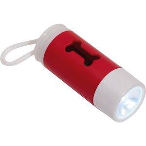 Torch and poop bag holder