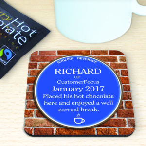 Custom drinks coaster