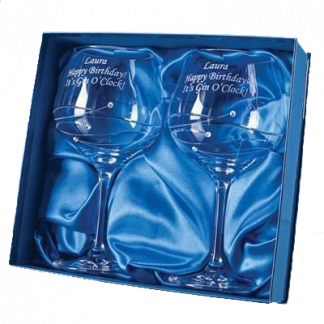 2 Diamante Gin Glasses