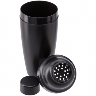 Opaque Plastic Cocktail Shaker 3 Piece Set in Black
