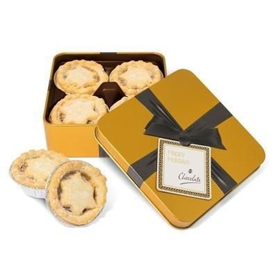 Winter Collection Luxury Gold Tin