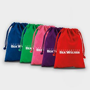 Medium Coloured Cotton Drawstring Bag