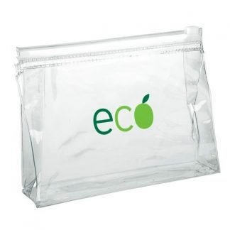 Clear Branded Toiletry Bag with Zip