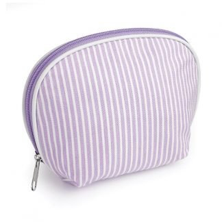 Striped Cotton Branded Makeup Bag