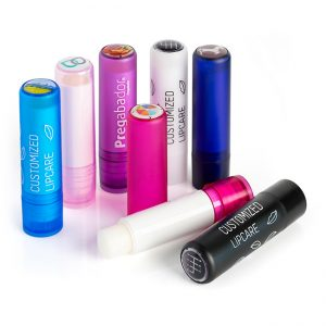 Lip Balm Stick with Branded Domed label