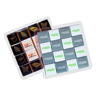 16 x 5g Printed Belgian chocolates