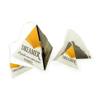 Promotional Pyramid Tea Bag and Printed Tag