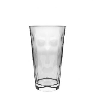Promotional Dimpled Dubbe Hiball Glass