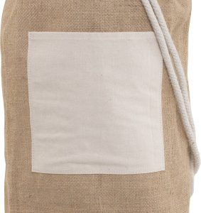 Jute Duffle Bag with metal Eyelets