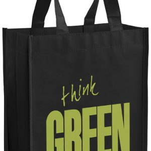 Black Small Laminated Tote Bag
