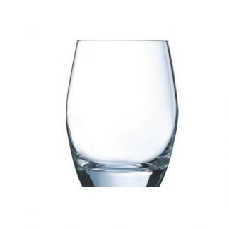 Stemless curved gin glass