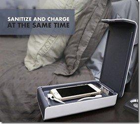 Mobile phone in the steriliser whilst charging