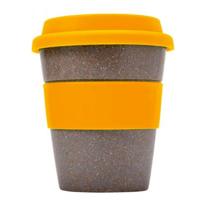 Bamboo Fibre Coffee Cup in Orange