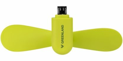 Micro USB Fan in Lime Green with Branding
