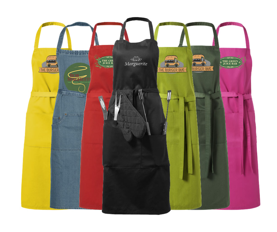 Aprons in different colours