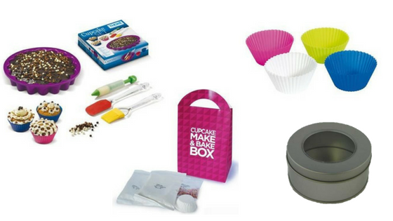 Make and Bake Sets, Cupcake Holders and Cake Tins
