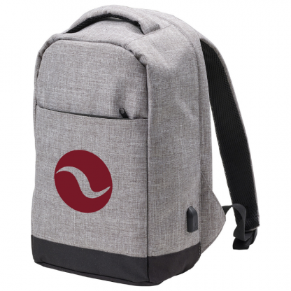 Promotional Anti Theft Bag in Grey with logo