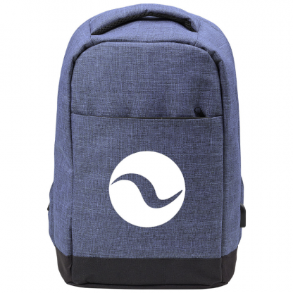 Promotional Anti Theft Bag in Blue with Logo